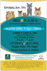 SRQ PAWS EVENT Nov 14th